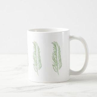 Light Green Feather design Coffee Mug