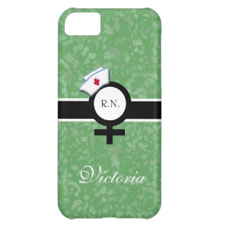 Light Green+Female Sign+Nurse Cap/Name iPhone 5C Case