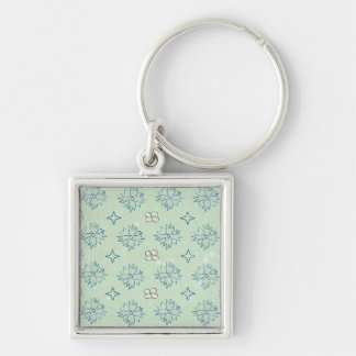 Light Green Floral Pattern Key Chains