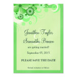 Light Green Floral Save The Date Announcements