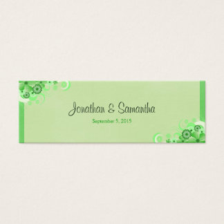 Light Green Floral Small Wedding Favor Favour Tags