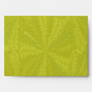 Light Green Floral Waves - Graphic Design Envelope