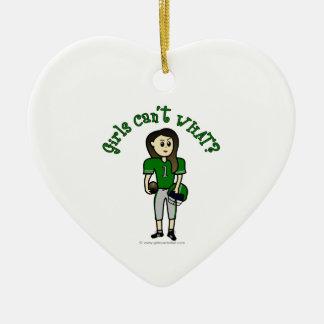 Light Green Football Ceramic Ornament