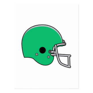 Light Green Football Helmet Postcard