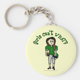 Light Green Football Key Chain