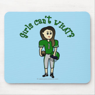 Light Green Football Mouse Pad