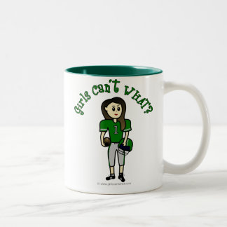 Light Green Football Two-Tone Coffee Mug