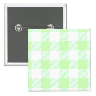 light green gingham check button