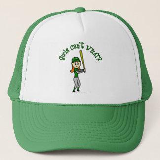 Light Green Girls Baseball Trucker Hat