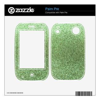 Light green glitter palm pre decal