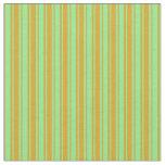 [ Thumbnail: Light Green & Goldenrod Lines/Stripes Pattern Fabric ]