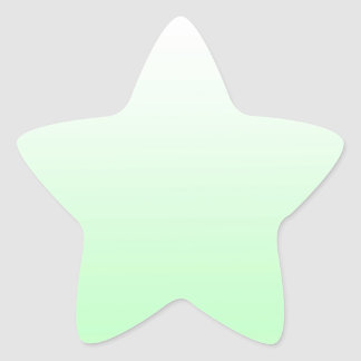 Light Green Gradient Jade Clear to Green Pastel Star Sticker