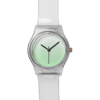 Light Green Gradient Jade Clear to Green Pastel Watch