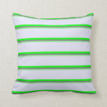 [ Thumbnail: Light Green, Gray, Lime, and Lavender Pattern Throw Pillow ]