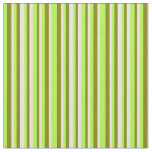 [ Thumbnail: Light Green, Green, and Beige Colored Lines Fabric ]