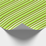 [ Thumbnail: Light Green, Green, and Beige Colored Lines Wrapping Paper ]