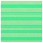 [ Thumbnail: Light Green & Green Colored Lined Pattern Fabric ]