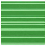 [ Thumbnail: Light Green & Green Colored Lines/Stripes Pattern Fabric ]