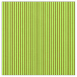 [ Thumbnail: Light Green & Green Colored Striped/Lined Pattern Fabric ]