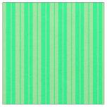 [ Thumbnail: Light Green & Green Lined Pattern Fabric ]