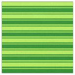 [ Thumbnail: Light Green & Green Striped Pattern Fabric ]