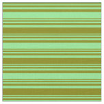 [ Thumbnail: Light Green & Green Stripes Fabric ]