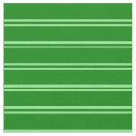 [ Thumbnail: Light Green & Green Stripes Pattern Fabric ]