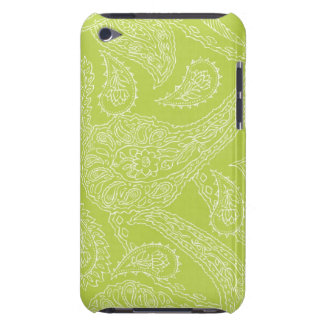 Light green henna vintage paisley girly floral iPod Case-Mate case