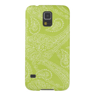 Light green henna vintage paisley girly floral galaxy s5 case