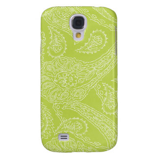 Light green henna vintage paisley girly floral samsung galaxy s4 cover
