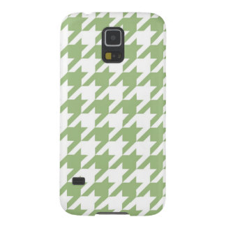 Light Green Houndstooth Galaxy S5 Case