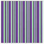 [ Thumbnail: Light Green & Indigo Lines Fabric ]