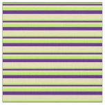 [ Thumbnail: Light Green, Indigo & Tan Colored Lines Fabric ]
