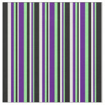 [ Thumbnail: Light Green, Indigo, White & Black Colored Lines Fabric ]