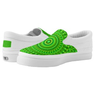Light Green Kaleidoscope Slip-On Sneakers