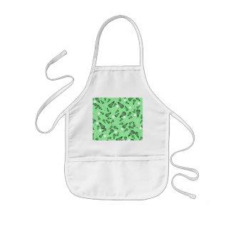 Light green lacrosse sticks pattern kids' apron