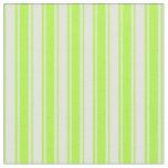 [ Thumbnail: Light Green & Light Cyan Stripes Pattern Fabric ]