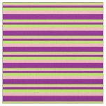 [ Thumbnail: Light Green, Light Pink, and Purple Stripes Fabric ]