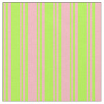 [ Thumbnail: Light Green & Light Pink Colored Striped Pattern Fabric ]