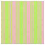 [ Thumbnail: Light Green & Light Pink Colored Striped Pattern Fabric ]