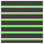[ Thumbnail: Light Green, Lime, Beige, and Black Colored Lines Fabric ]