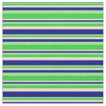 [ Thumbnail: Light Green, Lime Green, Tan & Blue Pattern Fabric ]
