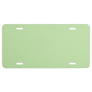 """Light Green"" License Plate"