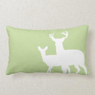 Light Green Male Female Deer Pillows