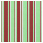[ Thumbnail: Light Green, Maroon & Lavender Colored Lines Fabric ]