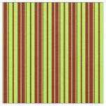 [ Thumbnail: Light Green & Maroon Lines Pattern Fabric ]