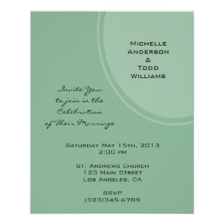 Light Green Modern Circle Wedding Flyer
