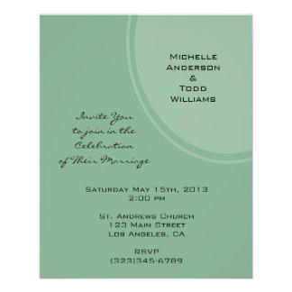 Light Green Modern Circle Wedding Flyer