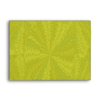 Light Green n Yellow Floral Waves - Graphic Design Envelope