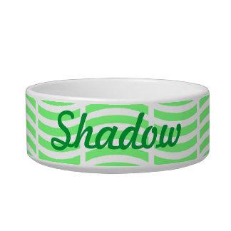 Light Green on White Cat Bowl